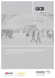 Satzung GCB German Convention Bureau e.V.