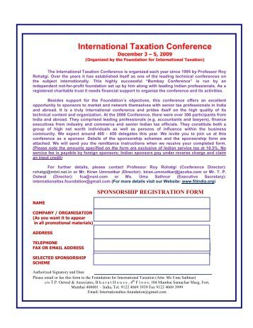 International Taxation Conference - Foundation for International ...