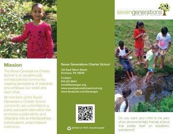 Seven Generations Charter School Brochure