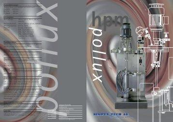 Aussenabmessungen Reaktorchassis mit ... - Simpex Tech AG
