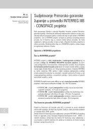 CONSPACE projekta - zavod pgz - Primorsko-goranska županija
