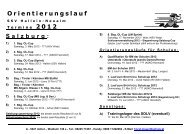 Orientierungslauf Salzburg: - HS Hallein-Neualm