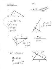 Geometry Worksheet 7.4 & 7.5 Triangle Similarity