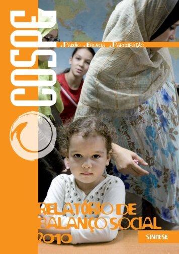 RELATÓRIO DE BALANÇO SOCIAL 2010 - Cospe