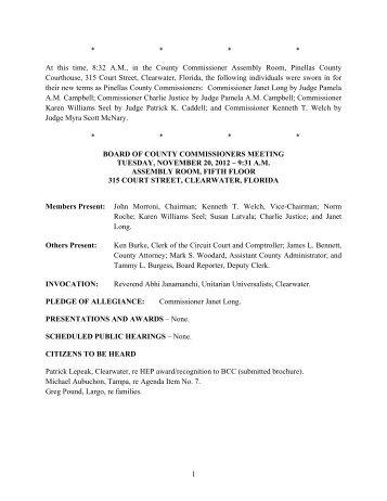 November 20, 2012 - Clerk of the Circuit Court
