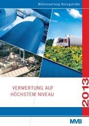 Umwelterklärung 2013 - MVB
