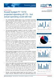 Kuwait budget FY 13/14: projected spending off 1% - but actual ...