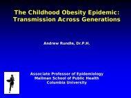 The Childhood Obesity Epidemic: Transmission Across Generations