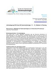 Jahrestagung 2012 des AK Geomorphologie, 11. - Deutscher ...