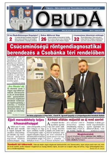 Óbuda Újság 2012/4. szám - Óbuda-Békásmegyer