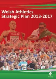Progressing coaching for performance - Welsh Athletics