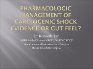 Pharmacologic management for Cardiogenic shock – EBM or gut feel?