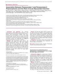 Association Between Paraoxonase-1 and Paraoxonase ... - Predimed