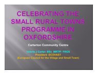 Background to SRTP - Oxfordshire Rural Community Council