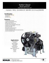 KDW1603 - Kohler Engines