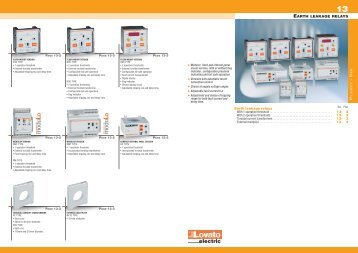General catalogue 2009-10 - Earth leakage relays - Technika GKM Kft.