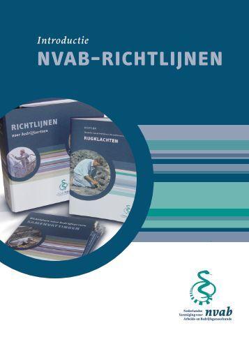 introductie NVAB-richtlijnen - Artsennet