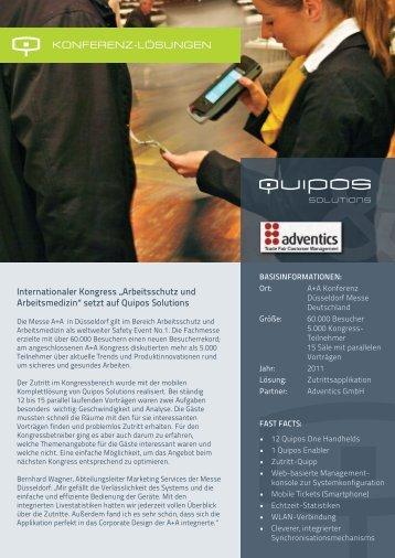 """Internationaler Kongress """"Arbeitsschutz und ... - Quipos Solutions"""