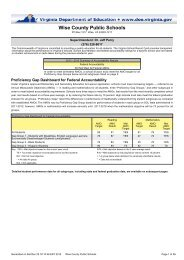 Wise County Schools 2013 Report Card - Wise County Public Schools