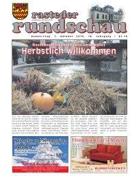 rasteder rundschau, Ausgabe Oktober 2010