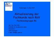Aktualisierung der Fachkunde nach RöV Fachkundegruppe R6