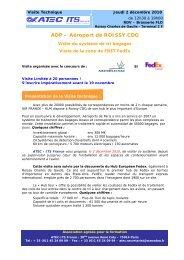 ADP – Aéroport de ROISSY CDG - Atec/ITS France
