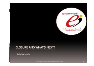 FP7-Closure and what's next - TIEC