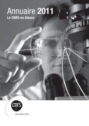 Annuaire des labos 2011 (PDF) - CNRS Alsace