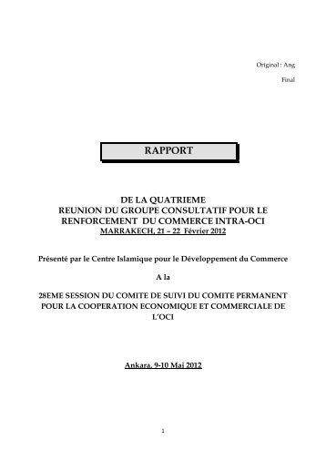 rapport de la quatrieme reunion du groupe consultatif pour l ... - ICDT