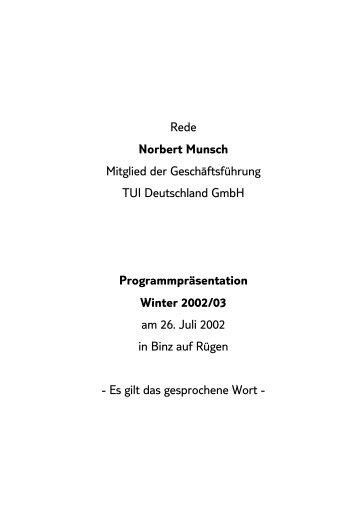 Juli 2002 i - TUI Deutschland