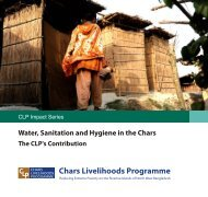 Water, Sanitation and Hygiene - The Chars Livelihoods Programme