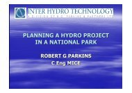 Planning a small Hydro Scheme in a National Park
