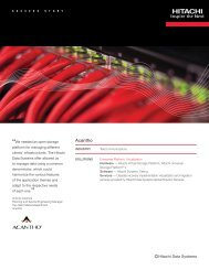Acantho Consistently Chooses Hitachi Storage  Technologies to ...