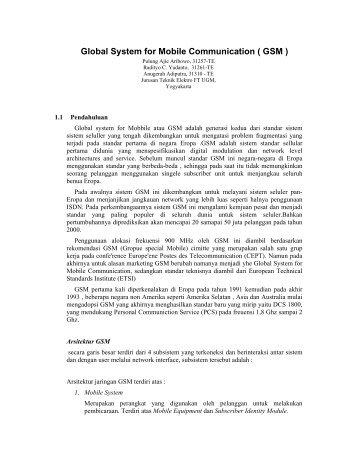 Sistem GSM 2 - Teknik Elektro UGM