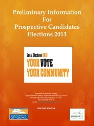 Preliminary Information For Prospective Candidates Elections 2013