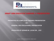 smart grid executive summary & presentation - BSIcable.com