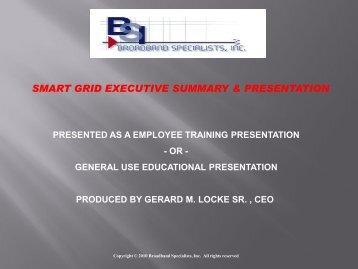 smart grid executive summary & presentation - BSIcable.com