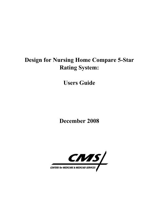 Design For Nursing Home Compare 5 Star Rating System Users