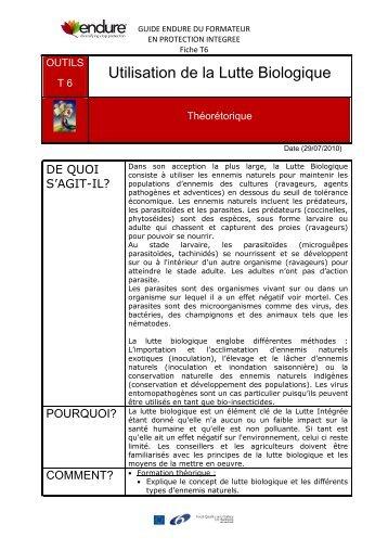 Uniformisation de l 39 utilisation d 39 auxiliaires pour le iqdho - La lutte biologique au jardin ...