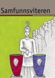 Samfunnsviteren 3/2005 - Samfunnsviterne