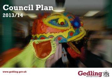 Council Plan - Financial - 2013/14 [3429kb] - Gedling Borough Council