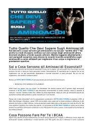 Tutto Quello Che Devi Sapere Sugli Aminoacidi Sai ... - Ultimate Italia