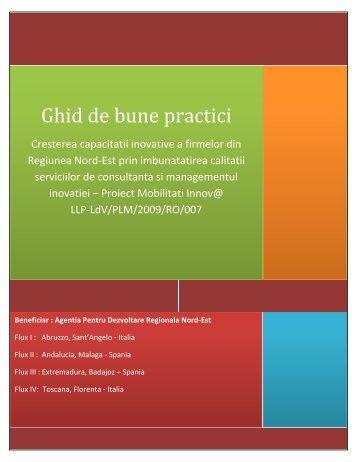 Ghid de bune practici - Agentia pentru Dezvoltare Regionala Nord-Est