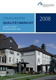 Qualitätsbericht 2008 - St. Vincenz Gruppe Ruhr
