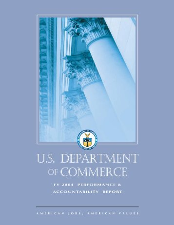 FY 2004 Performance and Accountability Report - Department of ...