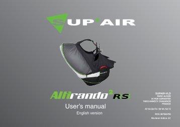 User's manual RS RS - Sup'Air