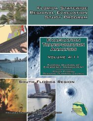 Volume 4-11 – Evacuation Transportation Analysis - South Florida ...
