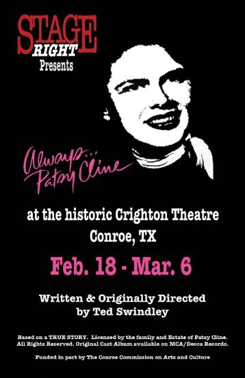 Always, Patsy Cline - Stage Right Resources