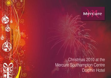 The Dolphin Hotel Southampton Christmas and Party Brochure 2010