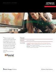 Hitachi Success Story with Pixorial - Hitachi Data Systems